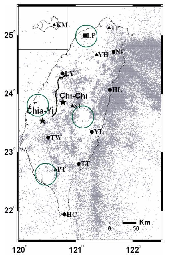 磁力觀測站分佈圖