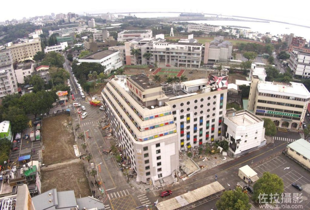 西北方向空中拍攝統帥大飯店
